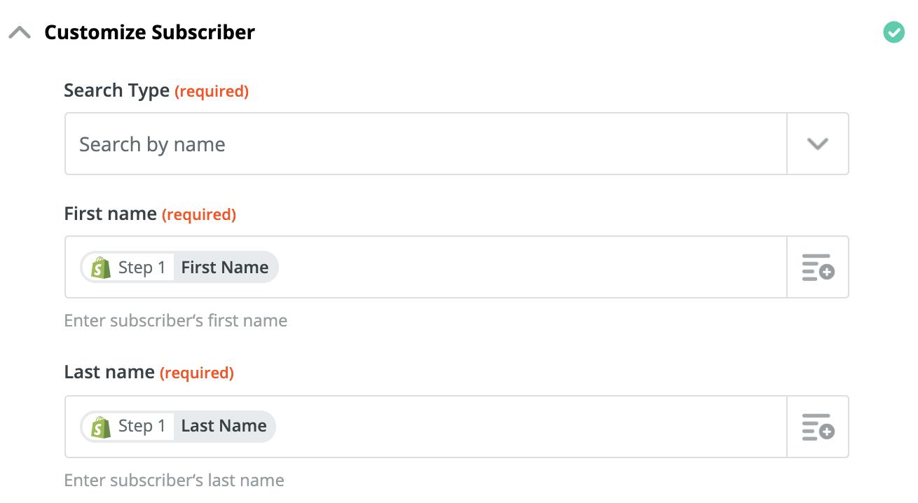 Customize Subscriber