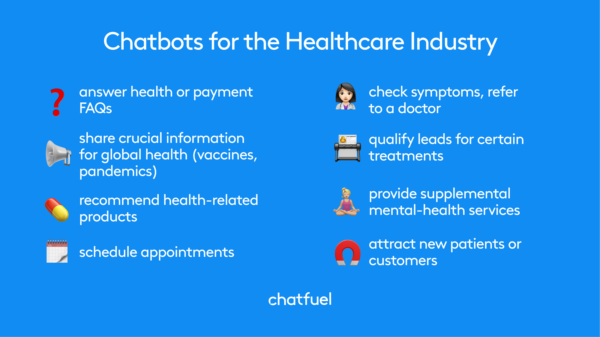 Chatbots for healthcare industry