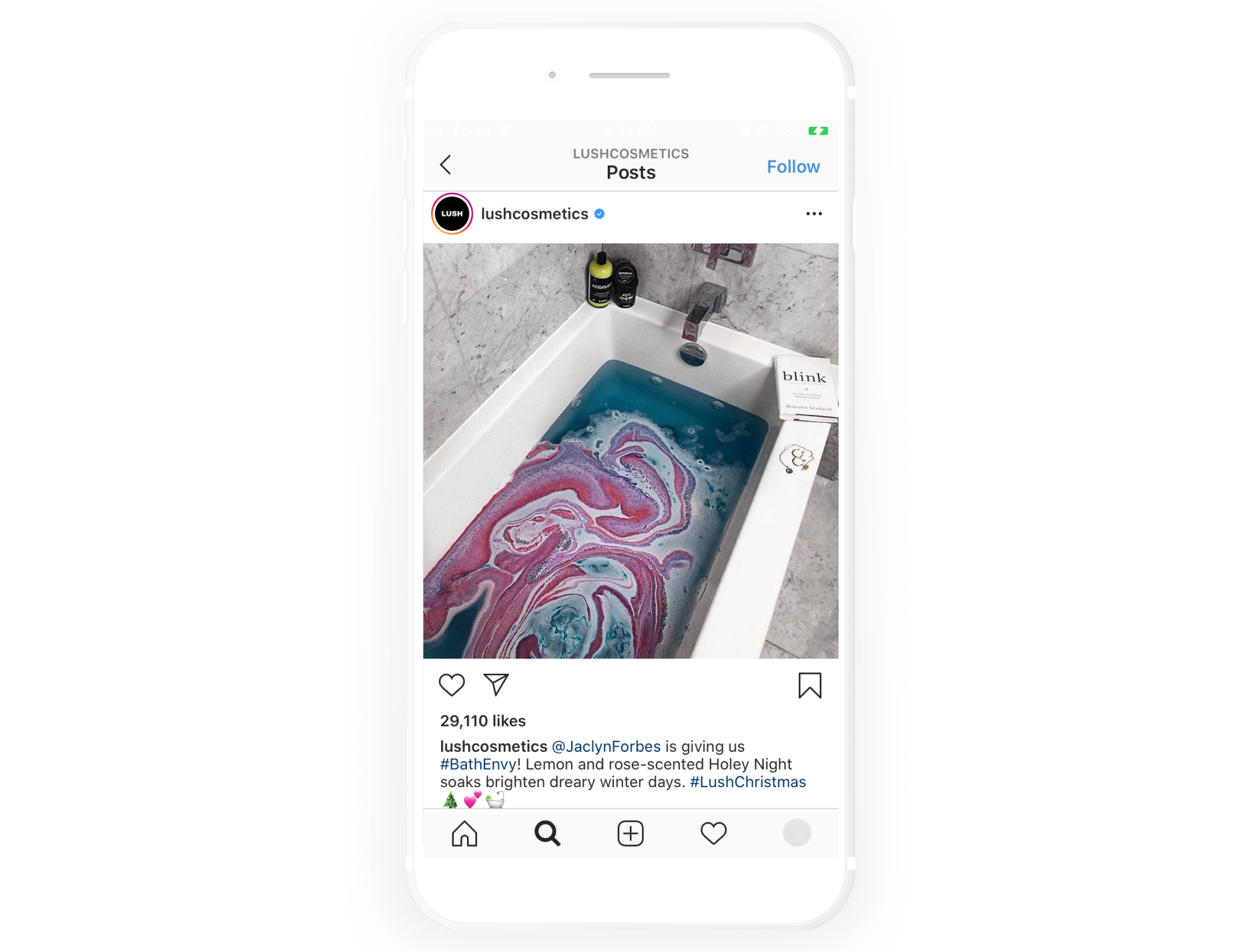 Lush shares their User Generated Content