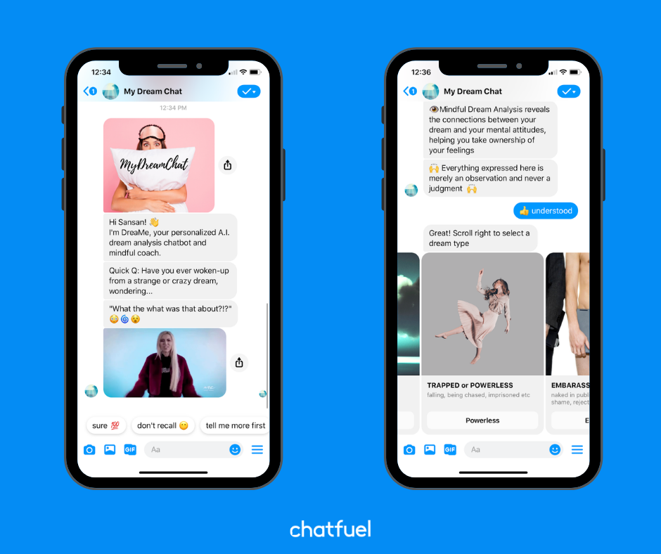 Chatbot for analyzing dreams