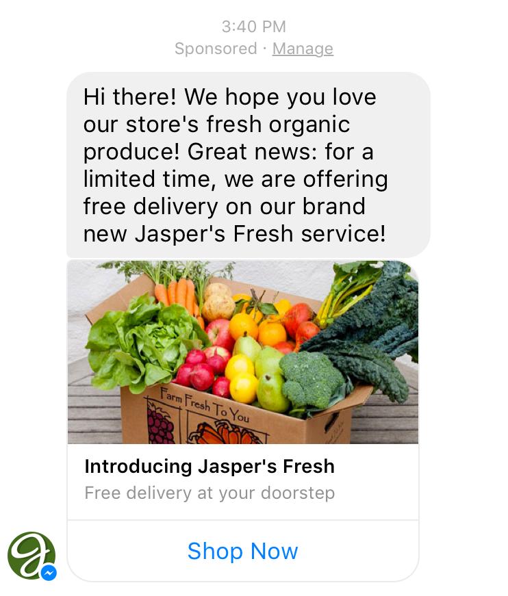 sponsored message