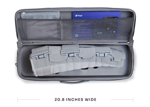 Dayspring Carrying Case open with components