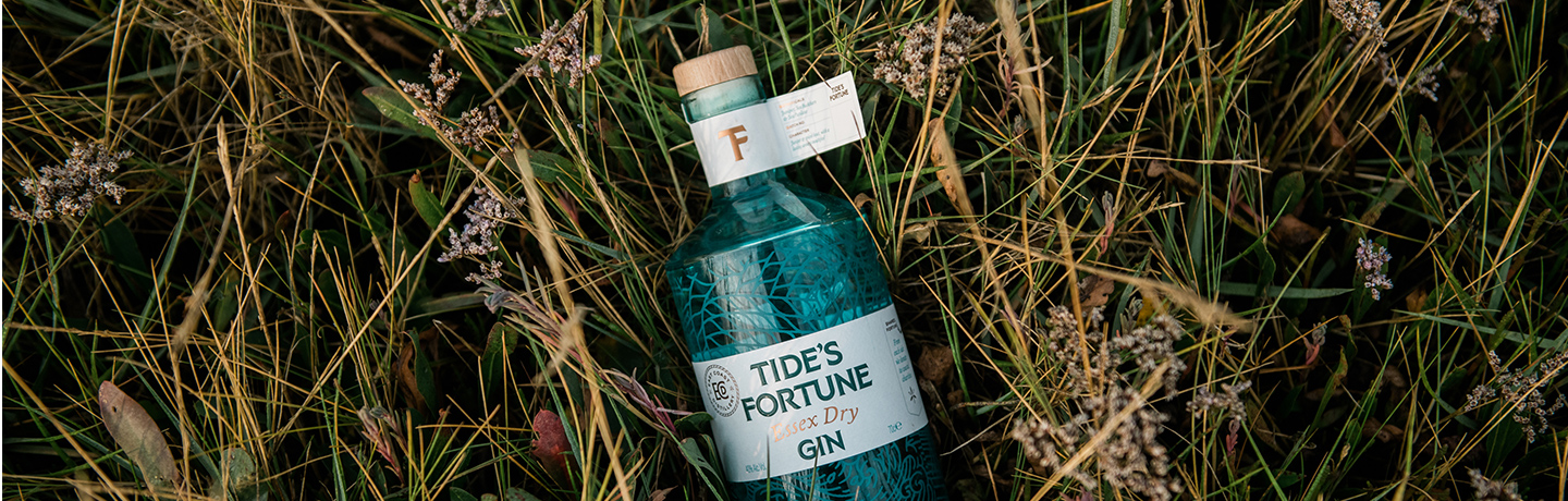 Tides Fortune gin from East Coast Distillery available at Essex Produce Co. in Kelvedon, Essex.