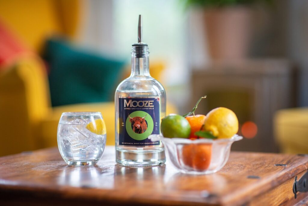 Mooze Booze available at the Essex Produce Co. in Kelvedon, Essex.