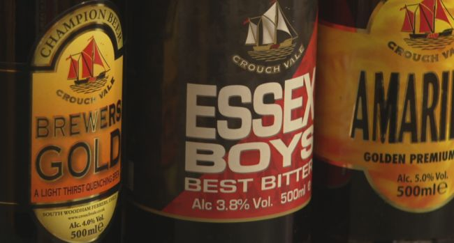 Crouch Vale brewery beer range available at the Essex Produce Co. in Kelvedon, Essex.