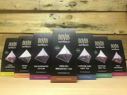 Novus Tea range available at the Essex Produce Co. in Kelvedon, Essex.