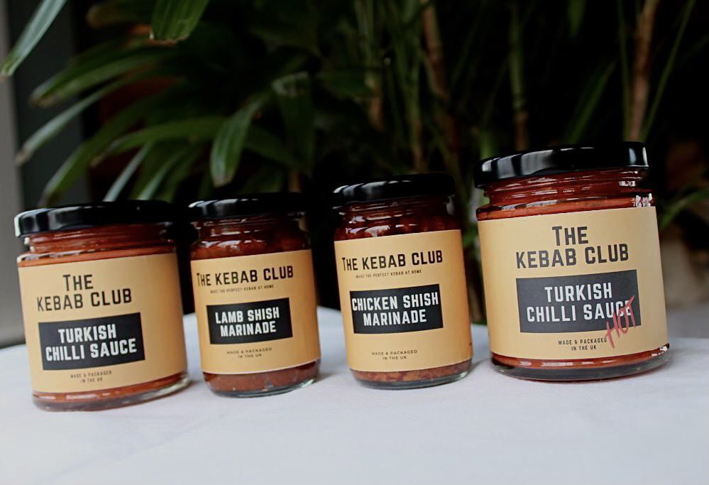 The Kebab club sauce range available at the Essex Produce Co. in Kelvedon, Essex.