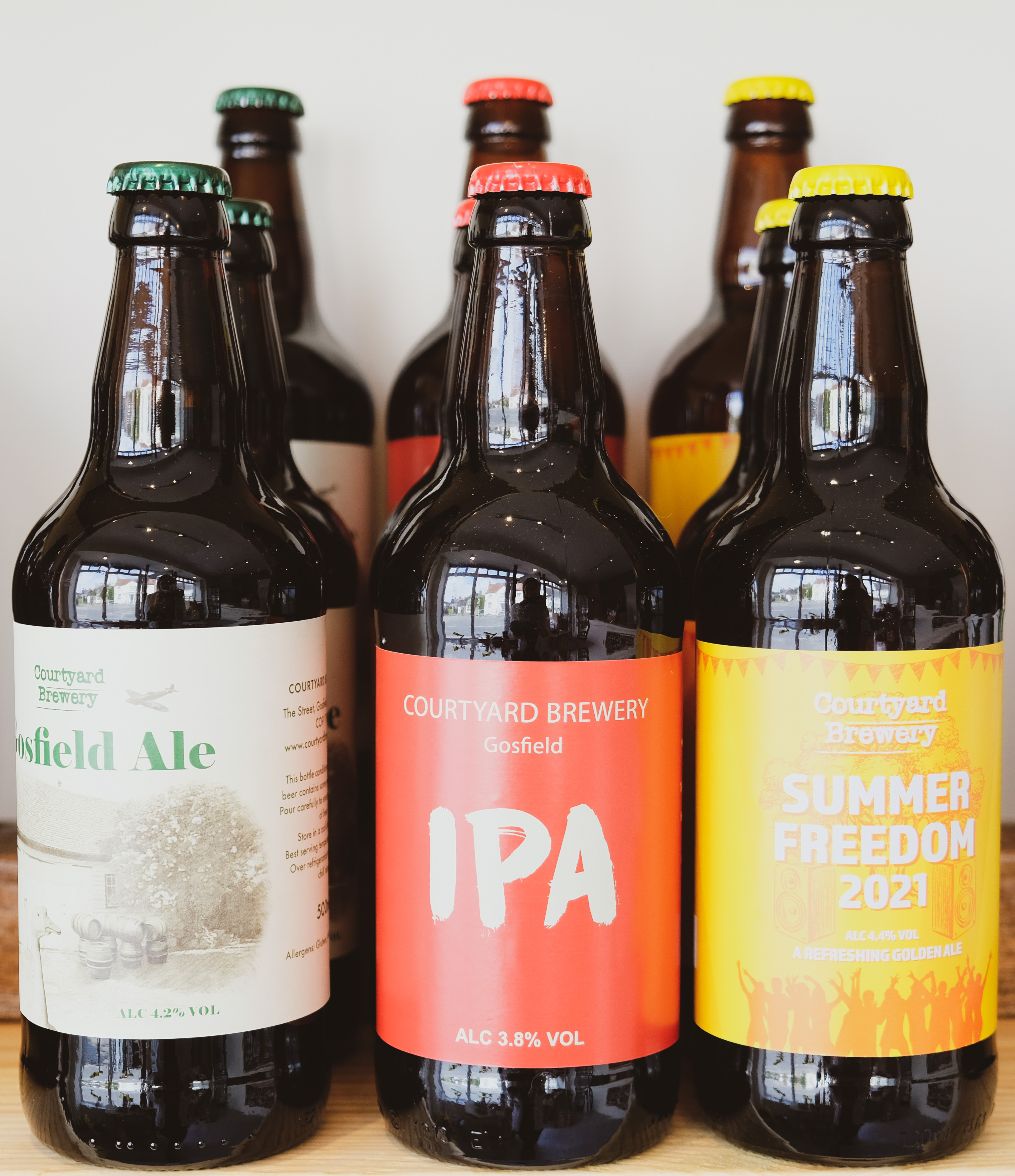 Courtyard Brewery beer range available at the Essex Produce Co. in Kelvedon, Essex.