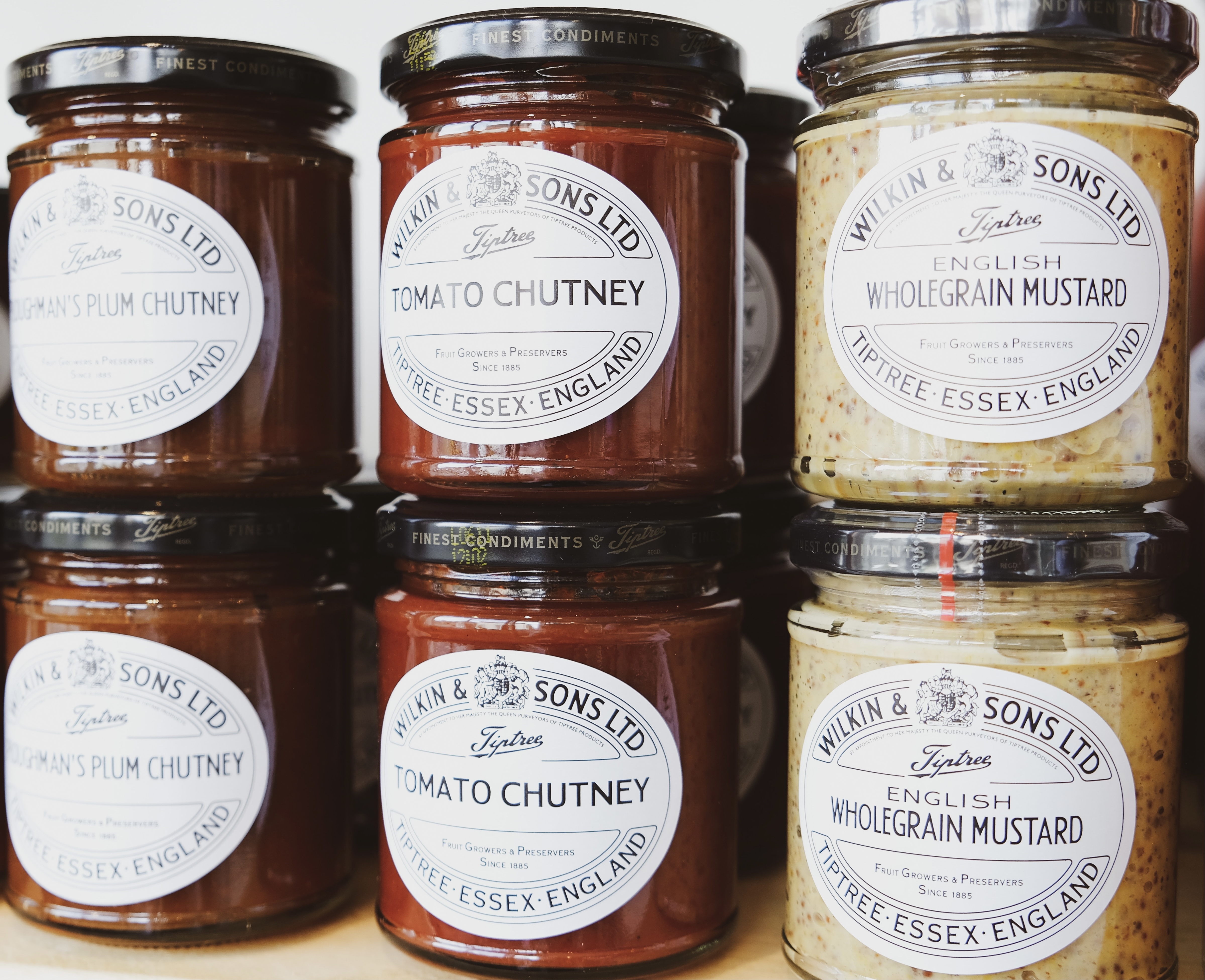 Wilkin & Sons jams and sauce range available at the Essex Produce Co. in Kelvedon, Essex.