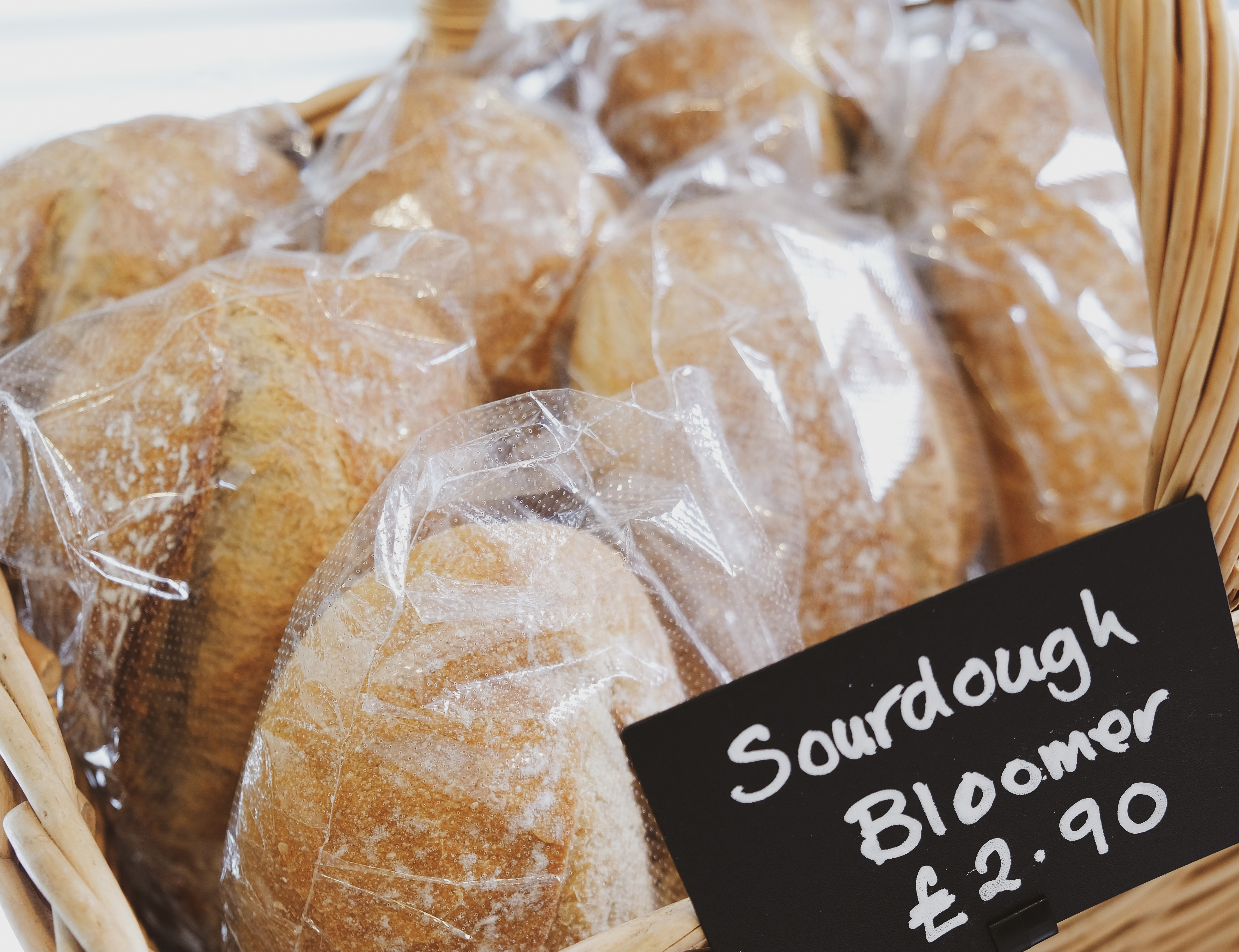 Fresh Sourdough bread available daily at the Essex Produce Co. Kelvedon, Essex.