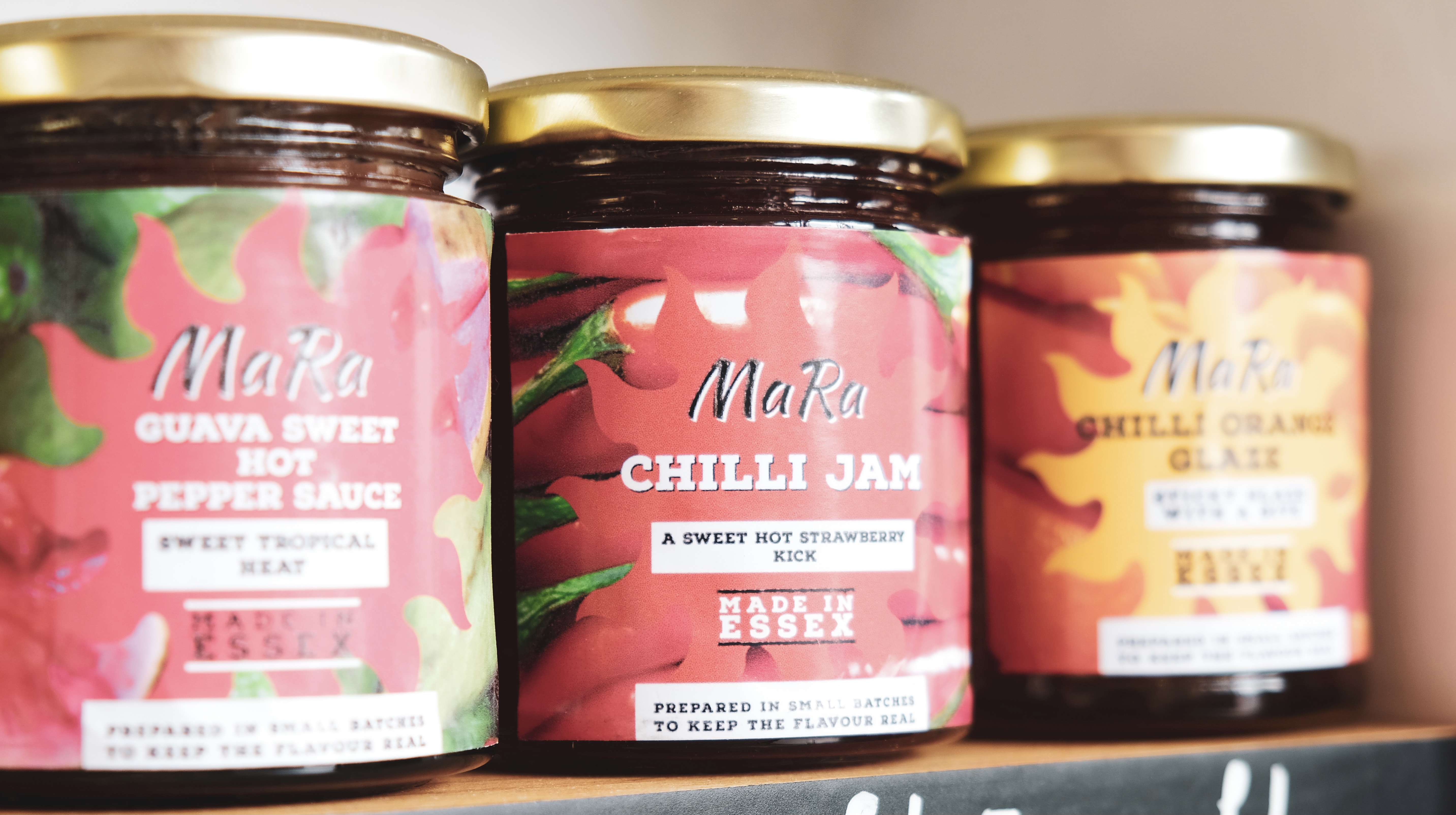 MaRa sauce range available at the Essex Produce Co. in Kelvedon, Essex.