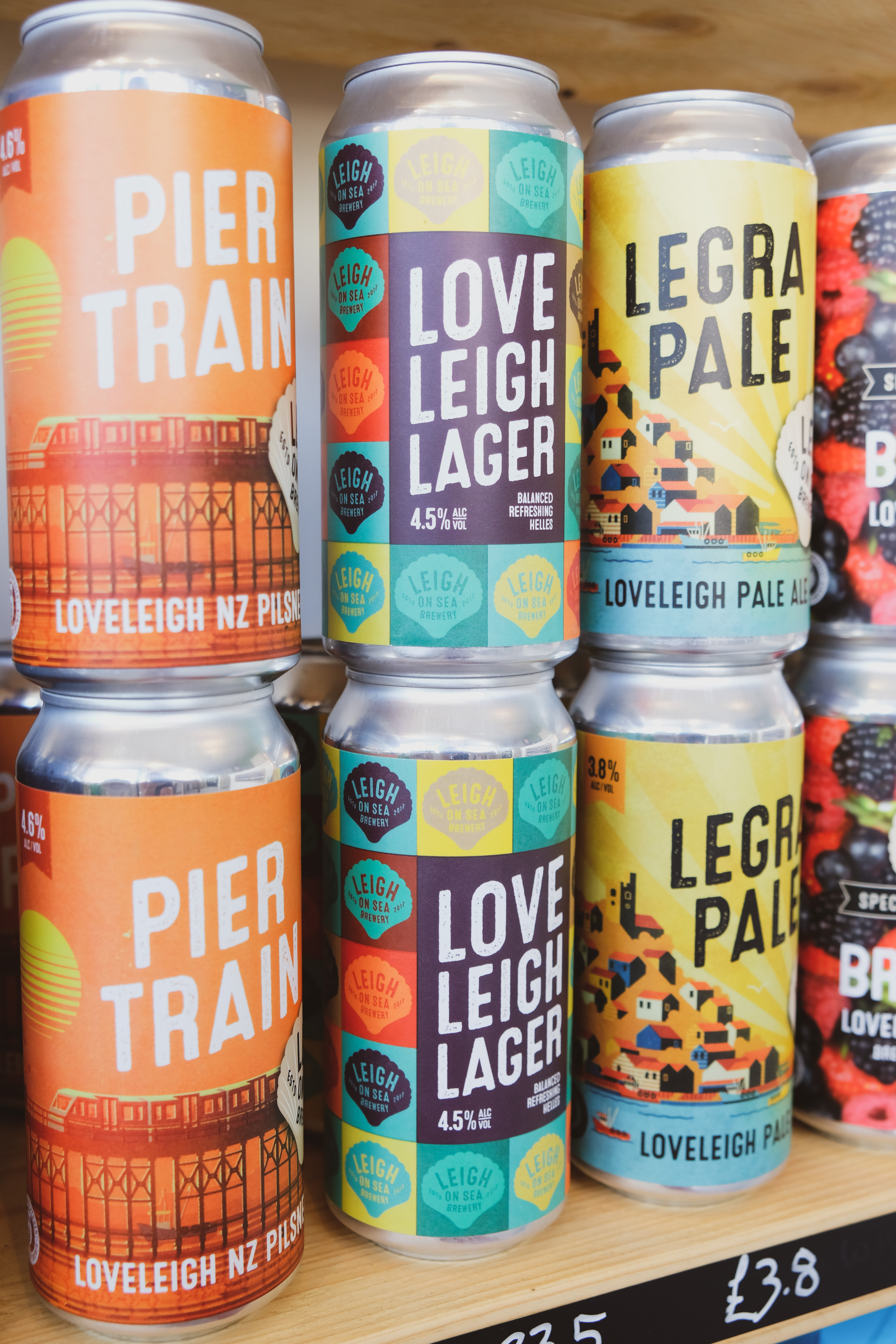 Leigh on sea brewery beer range available at the Essex Produce Co. in Kelvedon, Essex.