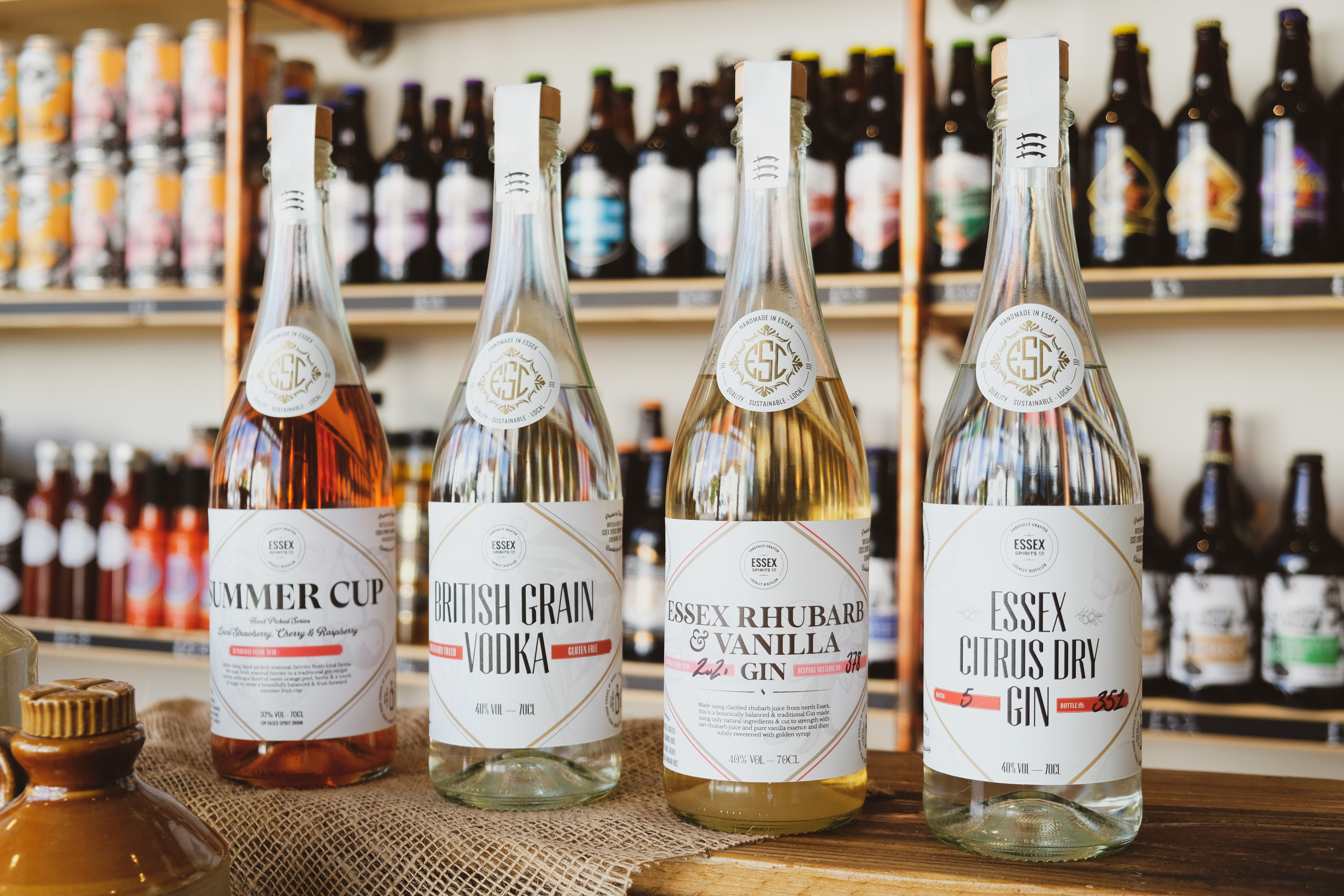 Essex Spirits Co. spirits available at Essex Produce Co. in Kelvedon, Essex.