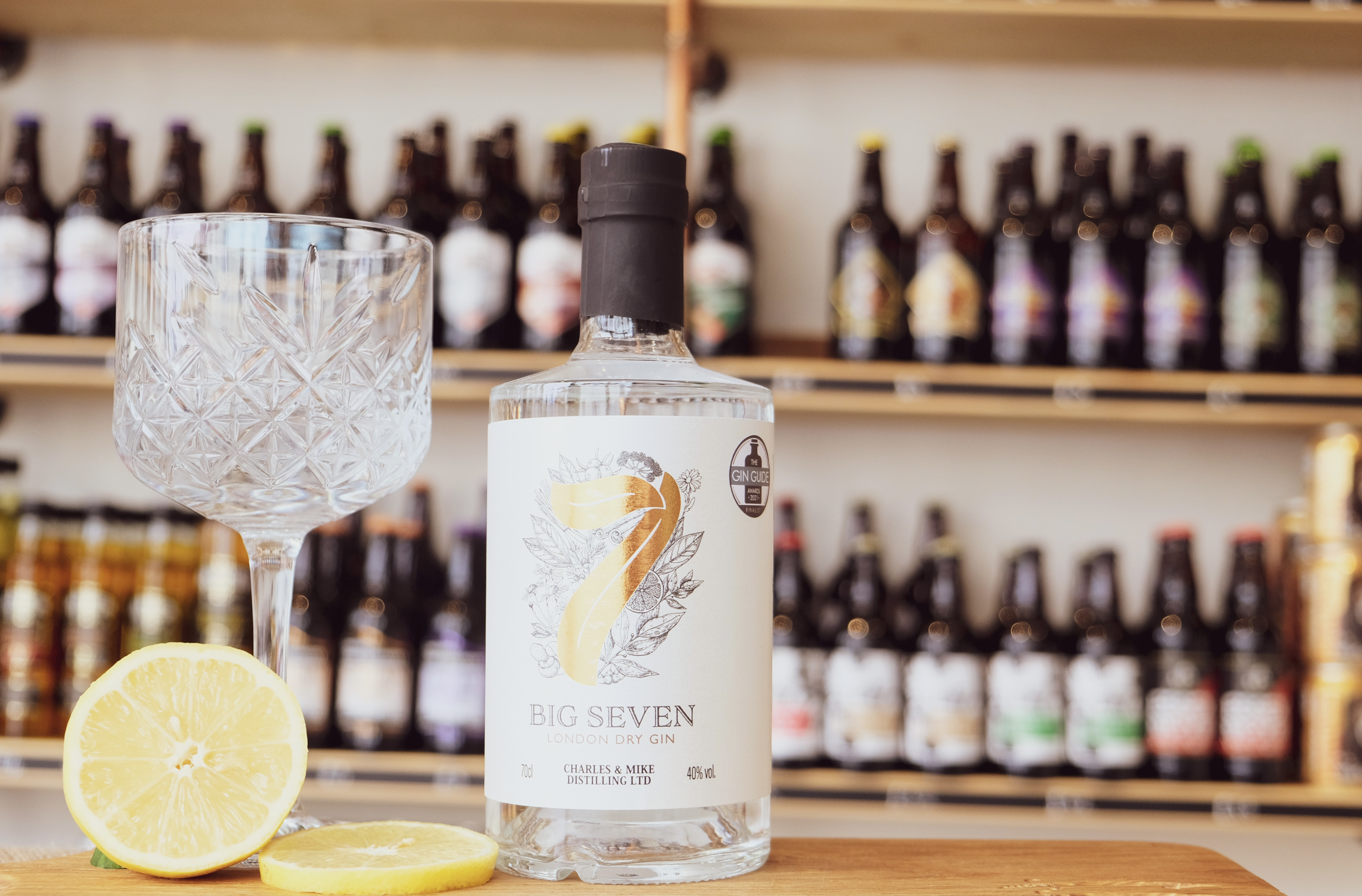 Charles & Mike Distilling Big Seven gin available at Essex Produce Co. in Kelvedon, Essex