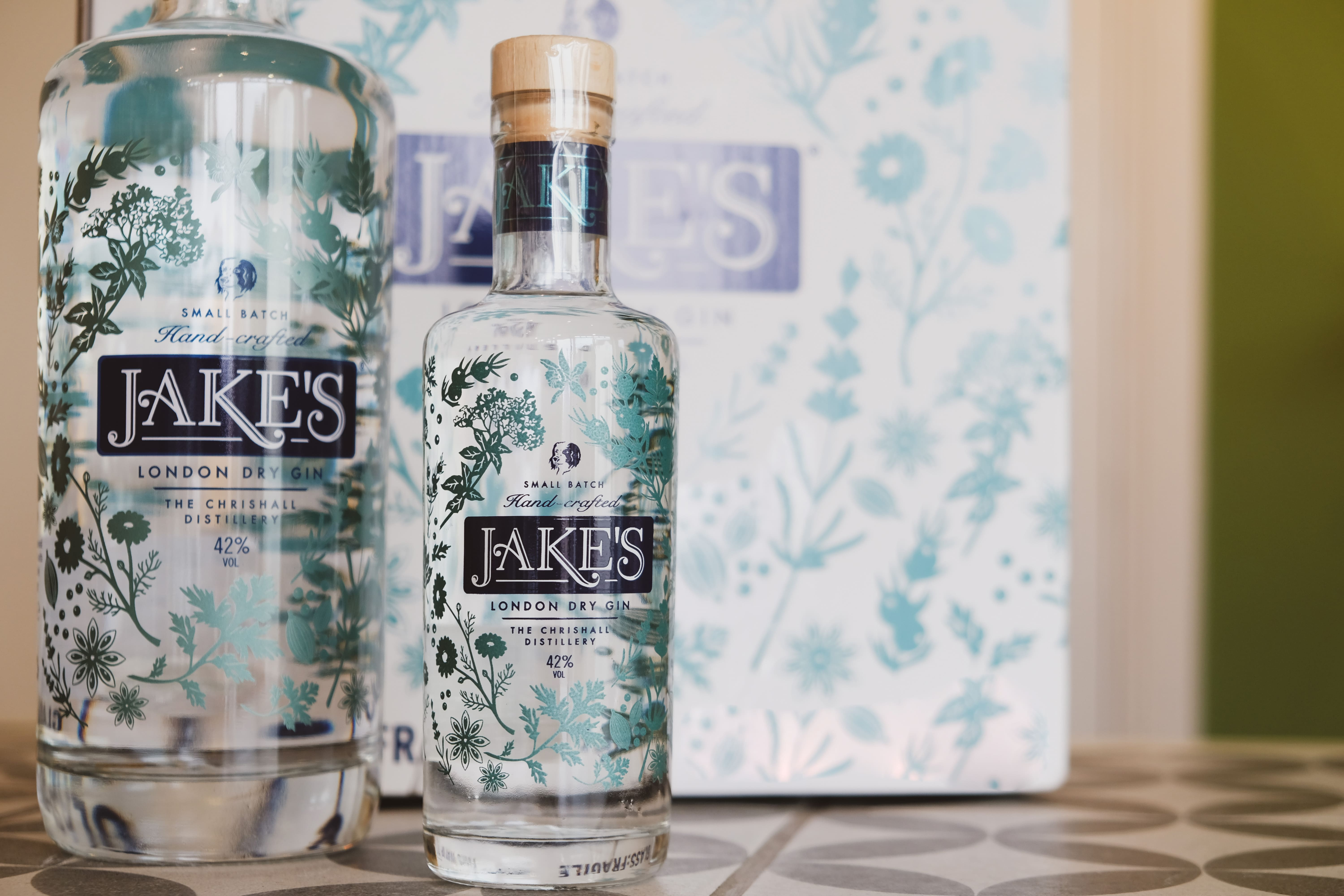 Jake's gin available at the Essex Produce Co. in Kelvedon, Essex.