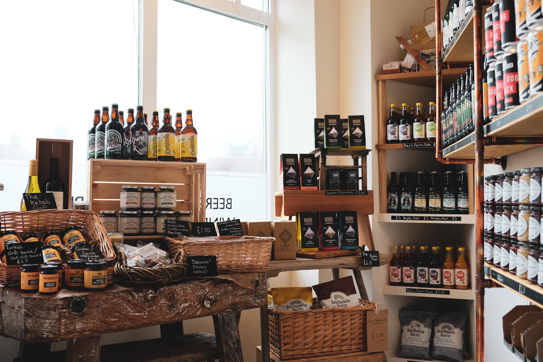 Interior of the Essex Produce Co in Kelvedon, Essex.