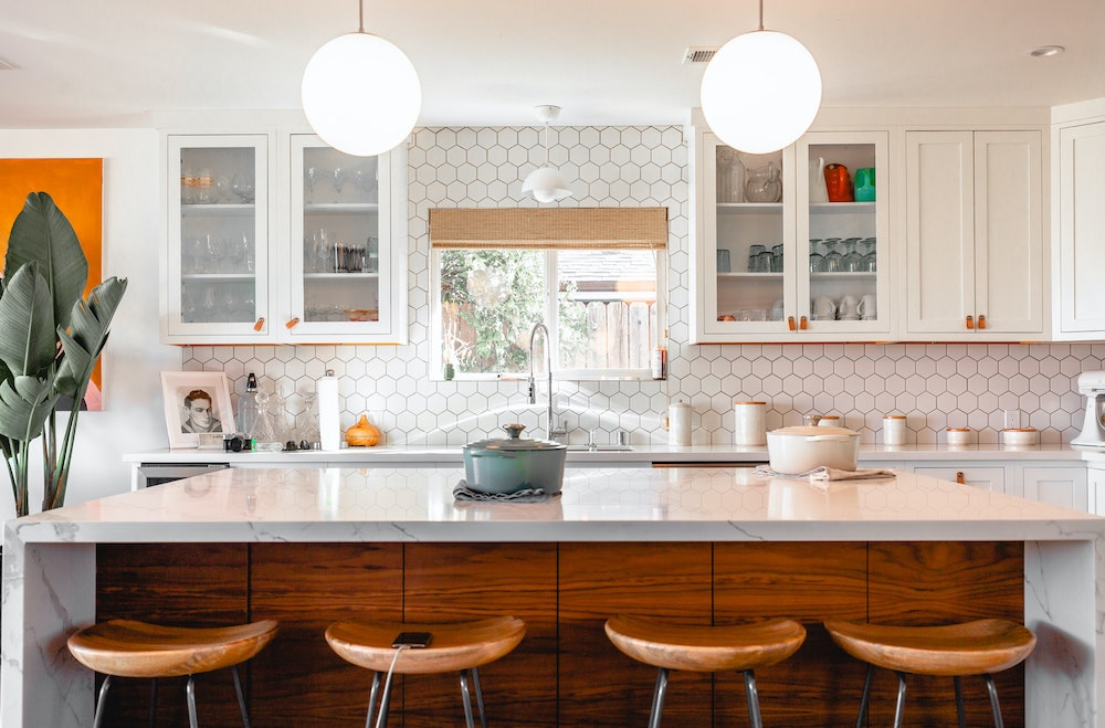 Custom White Shaker Kitchen Cabinets South Tampa