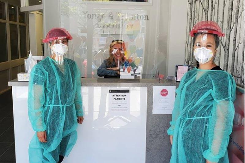 Team wearing masks (COVID-19 Measures)