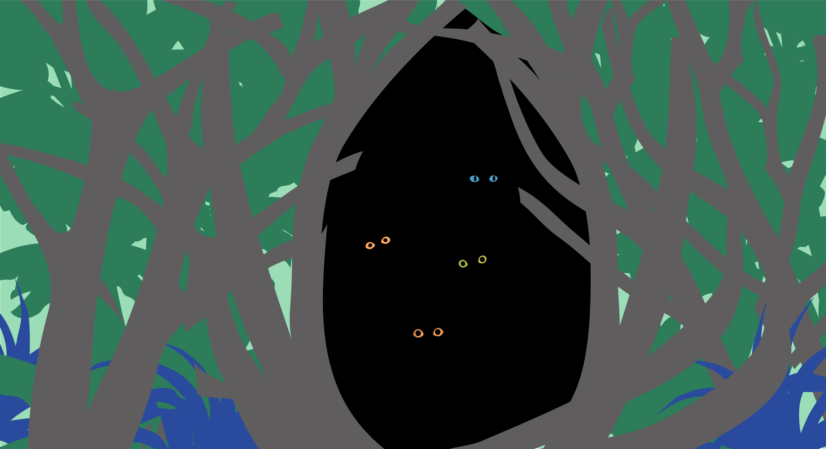 A drawing of Cat Wormhole, their eyes staring out invitingly from a world beyond