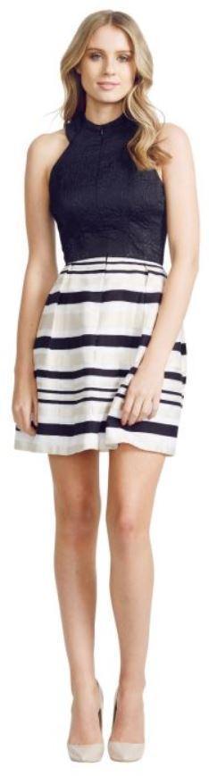 nicola finetti stripe skirt