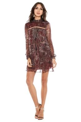 The Jetset Diaries - Labyrinth Paisley Mini Dress - Front