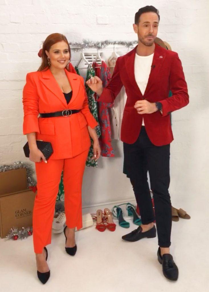 donny-gallela-dressing-curvy-women-figure-elliatt-harper-blazer-and-pant-set-tangerine
