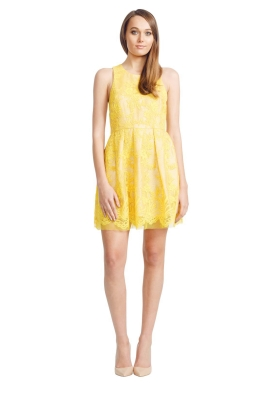 Alex Perry - Billie Dress - Front - Yellow