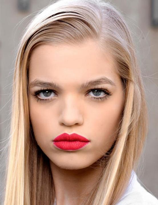 red pink lip