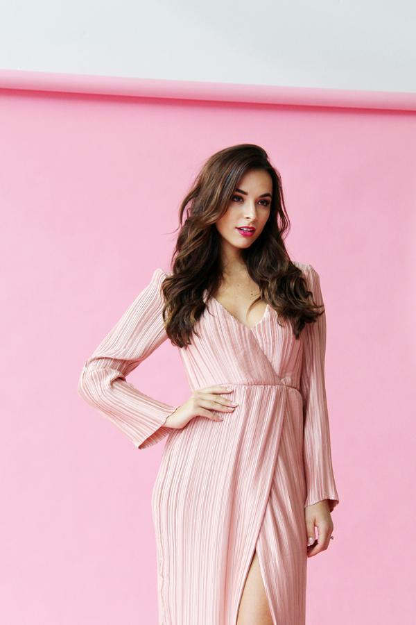 Monika Radulovic wearing our The JetSet Diaries Primavera Maxi Dress