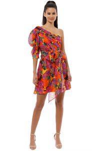 talulah_-_blossom_mini_dress_-_multi_-_front