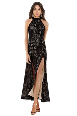 Guess - Sunset Geo Lace Maxi Dress - Front