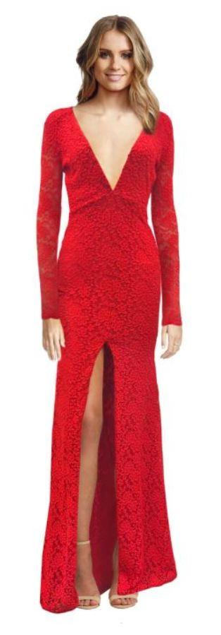 Aelkemi Red Long Gown