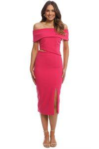 elliatt-serpentine-dress-pink-front