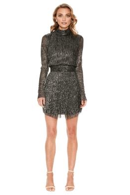 Rebecca Vallance - Paparazzi Long Sleeve Mini Dress - Front