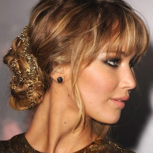 side chignon jessica lawrence autumn racing carnival hairstyle idea