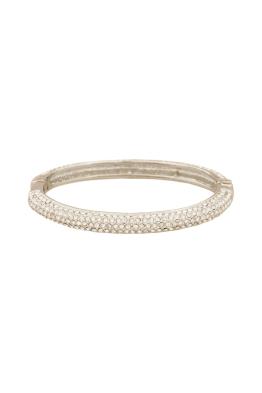 Adorne - Thin Diamante Hinged Bangle