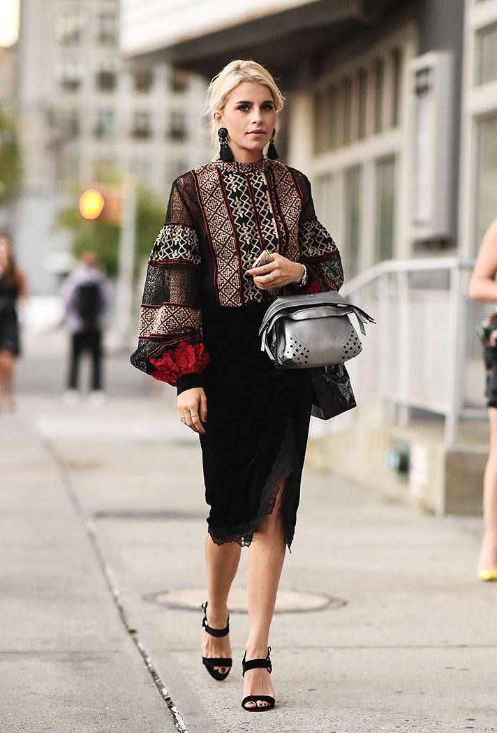 bell sleeve dress street style
