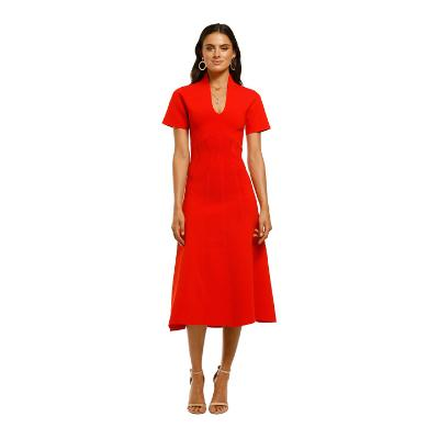 ginger-and-smart-valour-knit-dress-red-front