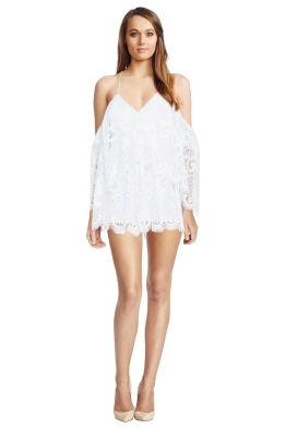 Alice McCall - Lucy In The Sky Playsuit White