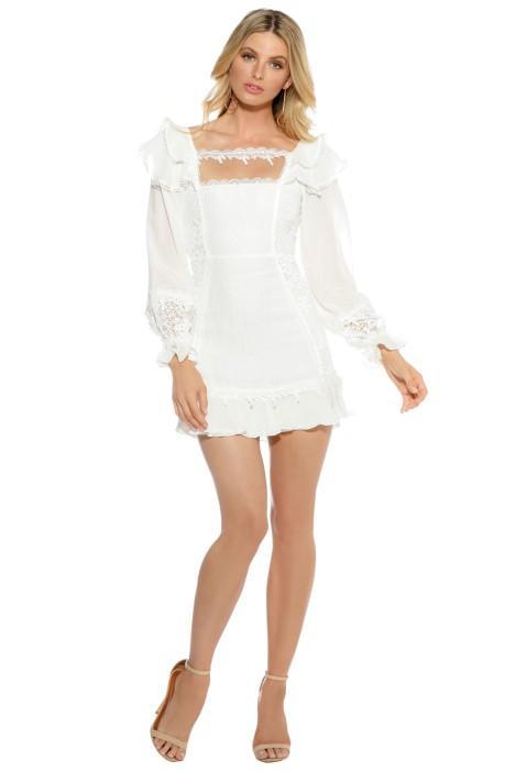 For Love and Lemons Crema Silk Linen Dress - White Winter