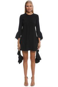 ellery_-_kilkenny_frill_sleeve_mini_dress_-_black_-_front