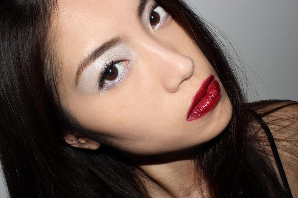 icy eyeshadow: Spring makeup trend