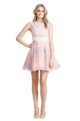 Nicola Finetti - Insert Pleat Dress - Front - Pink