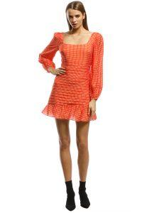 talulah-honey_hue_ls_mini_dress-orange-front