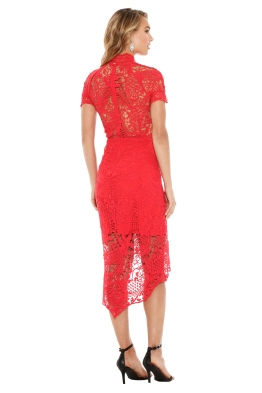 Thurley - Bed Of Roses Lace Dress - Red - Front