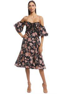 thurley_-_pineapple_chintz_lace_up_midi_dress_-_print_-_front