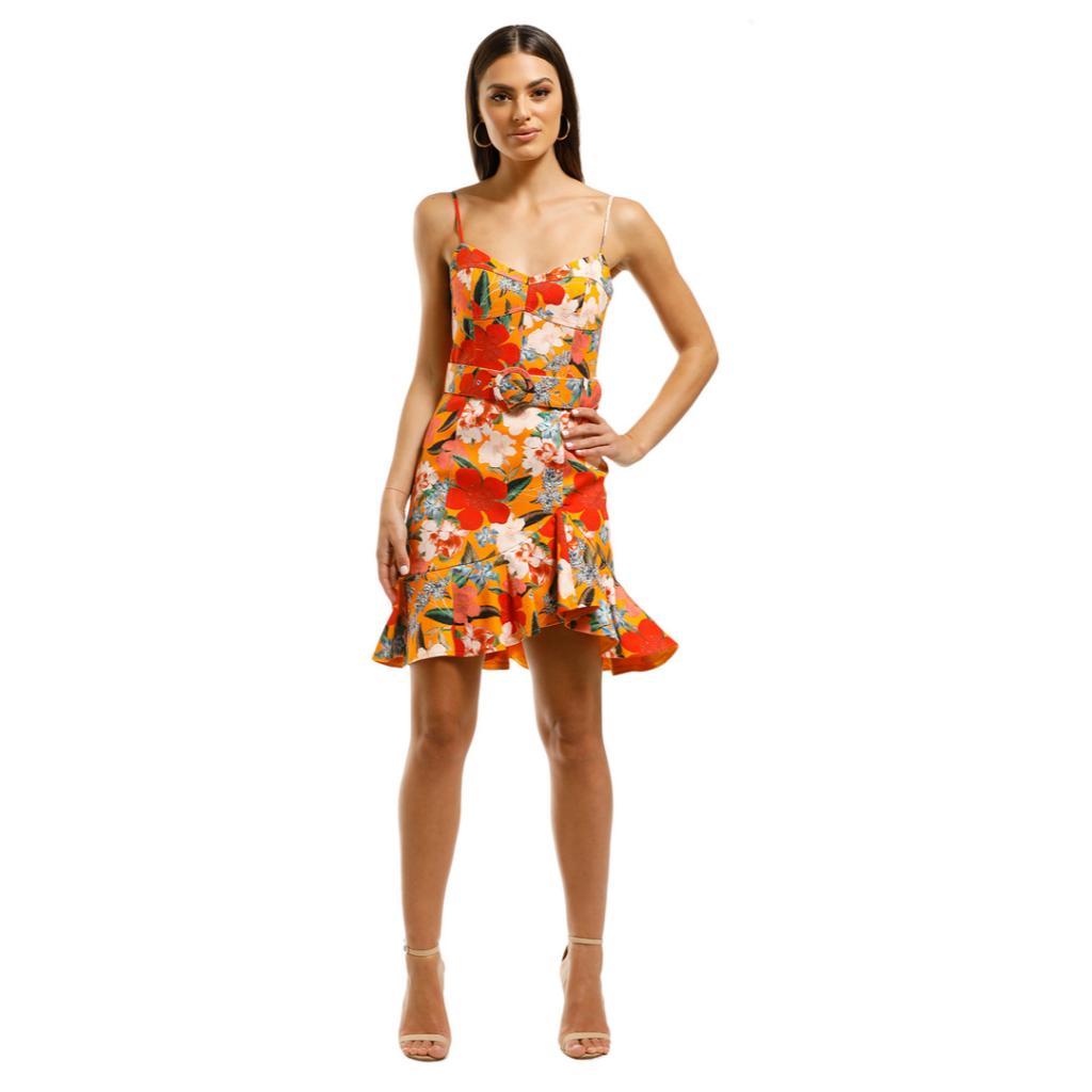 nicholas-the-label-arielle-frill-dress-tangerine-floral-front