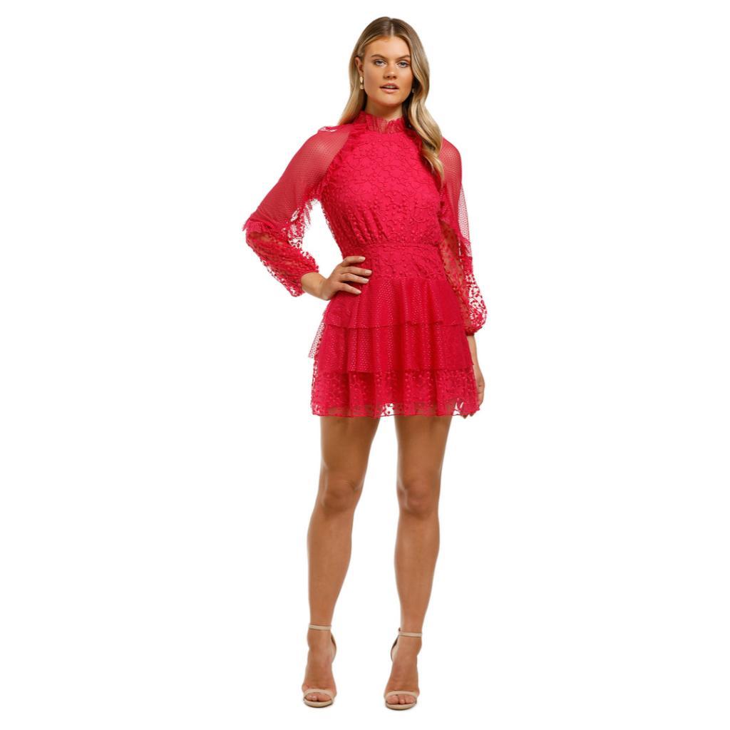 talulah-fuscia-delight-mini-dress-pink-front