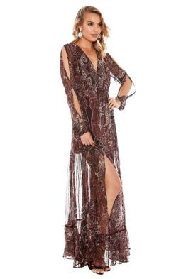 The Jetset Diaries - Labyrinth Paisley Maxi Dress - Side