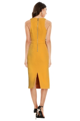 Premonition - Dynasty Midi Dress - Mango Yellow - Front